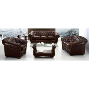 262 Leather Living Room Set by ESF Furniture