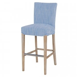 Milton Fabric/Wood Bar Stool