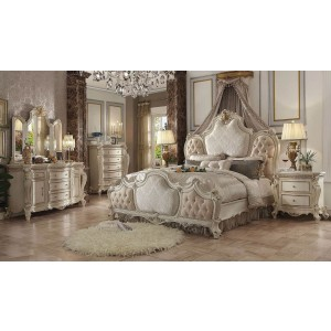 Picardy Wood/Poly Resin Tufted Panel Bedroom Set