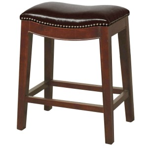 Elmo Bonded Leather/Wood Counter Stool