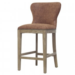 Dorsey PU/Wood Counter Stool
