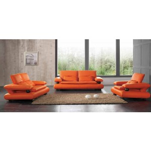 410 Leather/Eco-Leather Living Room Set by ESF Furniture