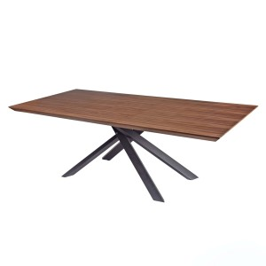 Moreno KD MDF/Wood Veneer/Iron Dining Table