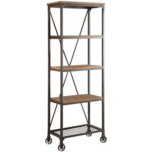 Millwood Industrial Medium Wood Bookcase