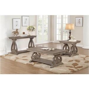 Toulon Wood Veneer Occasional Table Set by Homelegance