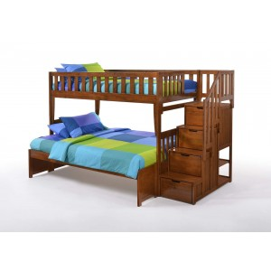 Peppermint Stair Wood Bunk Bed