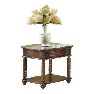 Lockwood Marble End Table by Homelegance