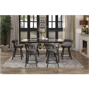 Appert Industrial Counter Height Dining Room Set by Homelegance