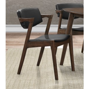 Coel Mid-Century Bi-Cast Vinyl Dining Side Chair by Homelegance