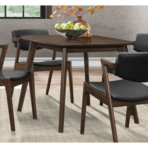 Coel Mid-Century Square Wood Dining Table by Homelegance