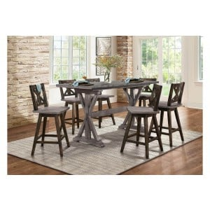 Amsonia Rustic Counter Height Dining Room Set by Homelegance