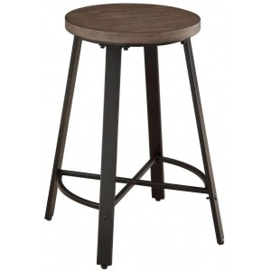 Chevre Rustic Wood Counter Height Chair