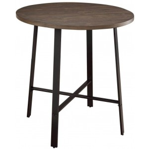 Chevre Rustic Round Wood Counter Height Table