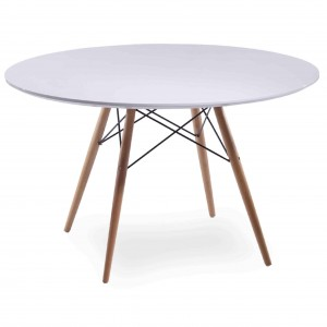"""Charleston 44"""" Round Table, Maple Dowel Legs by NPD (New Pacific Direct)"""