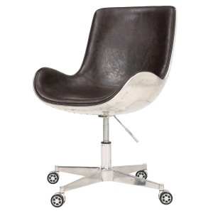 Abner PU/Aluminum Swivel Office Chair