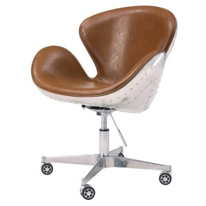 Duval PU Swivel Chair, Aluminium Frame