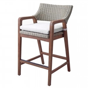 Shiloh Fabric/Rattan/Wood Counter Stool