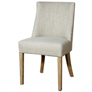 New Paris Fabric/Wood Dining Chair