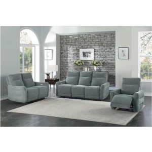 Edition Fabric Power Double Lay Flat Reclining Living Room Set by Homelegance