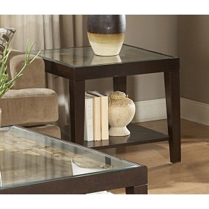 Vincent Glass End Table by Homelegance