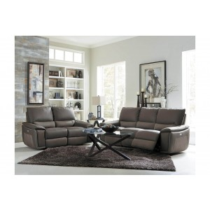 Corazon Leather/Fabric Living Room Set by Homelegance