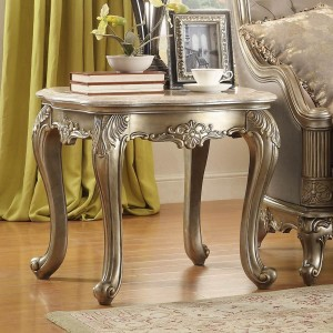 Florentina Marble End Table by Homelegance