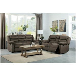 Discus Fabric Living Room Set by Homelegance