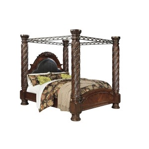 Ashley SM North Shore Wood Canopy Bed, King Size