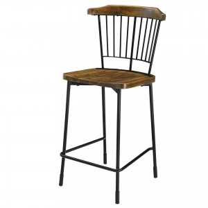 Greco KD Wood/Steel Counter Stool