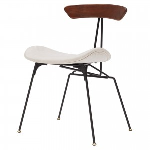 Wolfgang KD Fabric/Wood/Steel Dining Chair