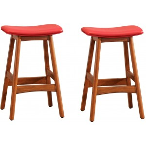 1188 Transitional PU Counter Height Stool