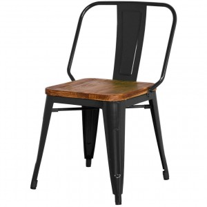 Brian KD Wood/Metal Dining Chair