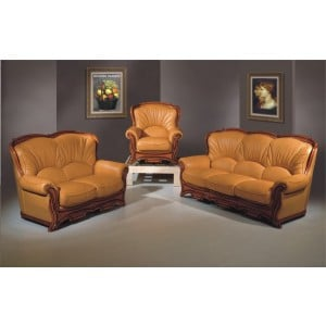 A52 Half Leather Living Room Set by ESF Furniture