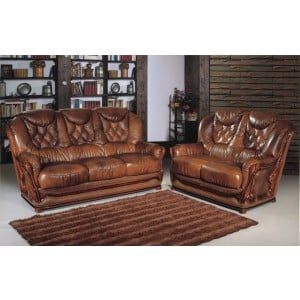 A56 Half Leather Living Room Set by ESF Furniture
