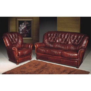 A61 Full Leather Living Room Set by ESF Furniture