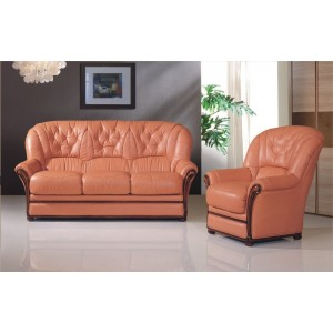 A90 Half Leather Living Room Set by ESF Furniture