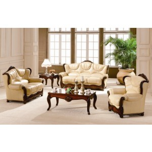 A97 Full Leather Living Room Set by ESF Furniture