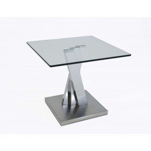 Ace Glass/Stainless Steel Lamp Table by Sharelle Furnishings
