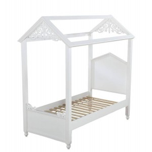 Rapunzel Wood Canopy Bed
