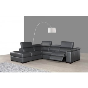 Agata Premium Leather Sectional, Left Arm Chaise by J&M Furniture