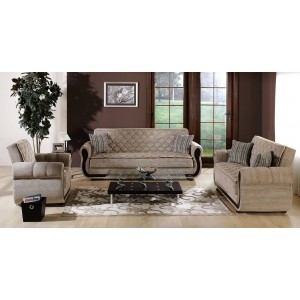 Argos Living Room Set (Sofa + Armchair) Zilkade L. Brown by Sunset (Istikbal) Furniture
