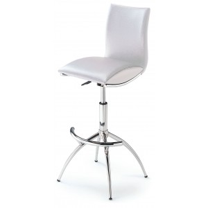 60 Barstool, Set of 2, White by New Spec
