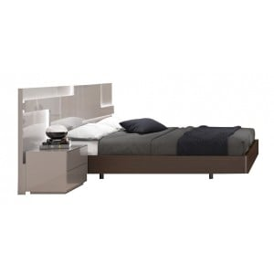 Maratea Modern Bed with Lighting