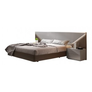 Anzio Modern Bed with Lighting