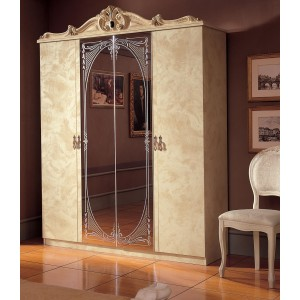 Barocco Wood Wardrobe w/4 Doors