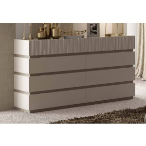Marina Wood Veneer Double Dresser