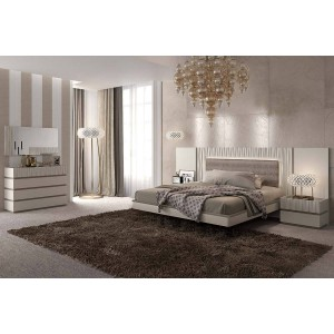 Marina Wood Veneer/Lacquer Platform Bedroom Set