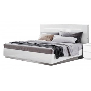 Onda Legno Wood/LED Platform Euro Bed