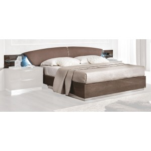 Platinum Drop Eco-Leather Platform Euro Bed