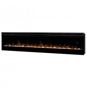 "Prism Series 74"" Wall-mount Electric Fireplace"